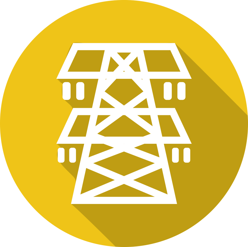 Electric Utility Tower Icon